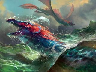 Собирать пазл Морской дракон онлайн