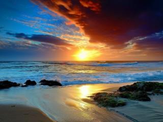 Собирать пазл Морской закат онлайн