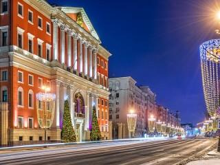 Собирать пазл Московские улицы онлайн