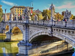 Собирать пазл Мост в Риме онлайн