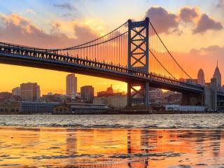 Собирать пазл Мост Б. Франклина онлайн