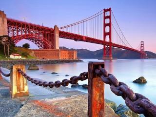 Собирать пазл Мост и набережная онлайн