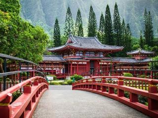 Собирать пазл Мост к храму онлайн