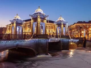 Собирать пазл Мост Ломоносова онлайн
