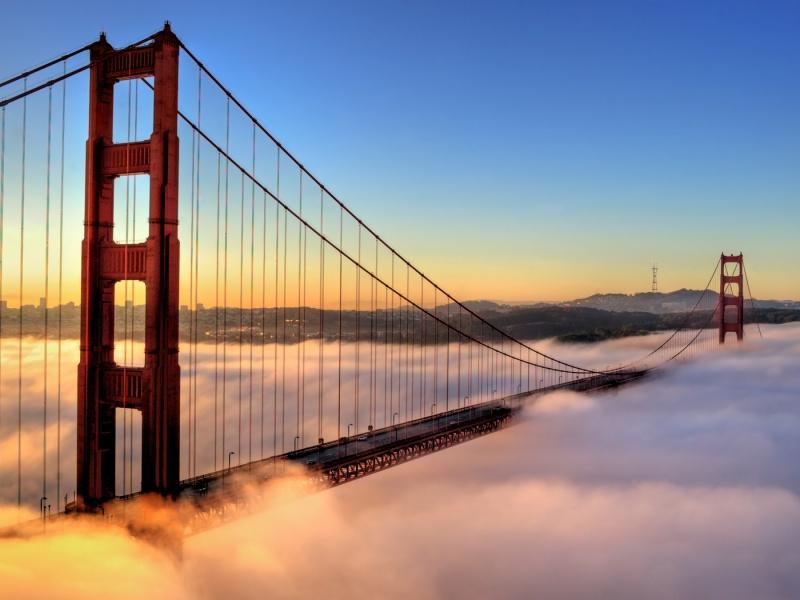 Пазл Собирать пазлы онлайн - Мост в облаках