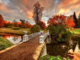 Собирать пазл Мост в осень онлайн