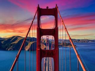 Собирать пазл Мост в перспективе онлайн