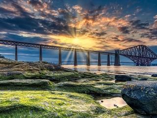 Собирать пазл Мост в Шотландии онлайн