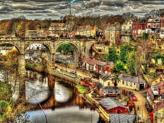 Собирать пазл Мосты Кнарсборо онлайн