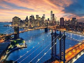 Собирать пазл Мосты Нью-Йорка онлайн