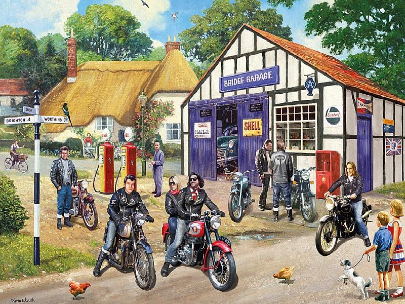 Пазл Собирать пазлы онлайн - Мотоциклисты