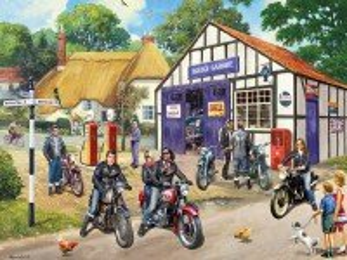 Собирать пазл Мотоциклисты онлайн