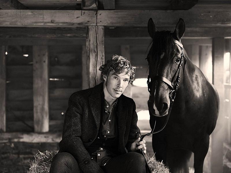 Пазл Собирать пазлы онлайн - Мужчина и конь