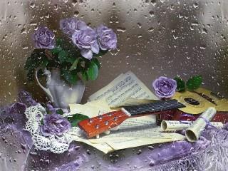 Собирать пазл Музыка дождя онлайн