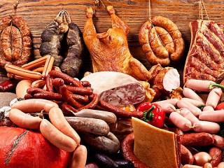 Собирать пазл Мясные продукты онлайн