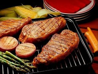 Собирать пазл Мясо-гриль онлайн