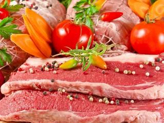 Собирать пазл Мясо и овощи онлайн