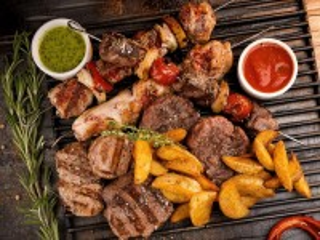 Собирать пазл Мясо на гриле онлайн