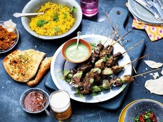 Собирать пазл Мясо на шпажках онлайн