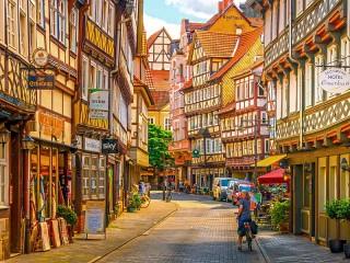 Собирать пазл Мюнден Германия онлайн