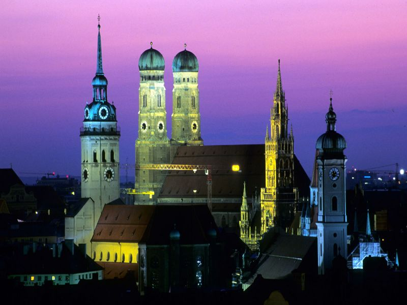 Пазл Собирать пазлы онлайн - Город Мюнхен