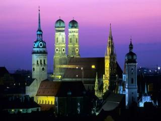 Собирать пазл Город Мюнхен онлайн