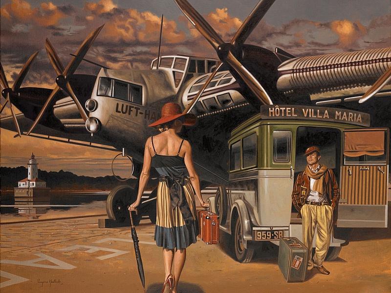 Пазл Собирать пазлы онлайн - На аэродроме