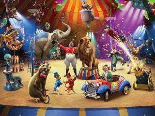 Собирать пазл На арене цирка онлайн