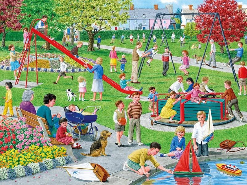 Пазл Собирать пазлы онлайн - На детской площадке