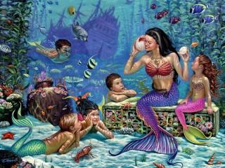 Собирать пазл На дне моря онлайн