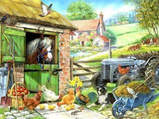 Собирать пазл На ферме 2 онлайн