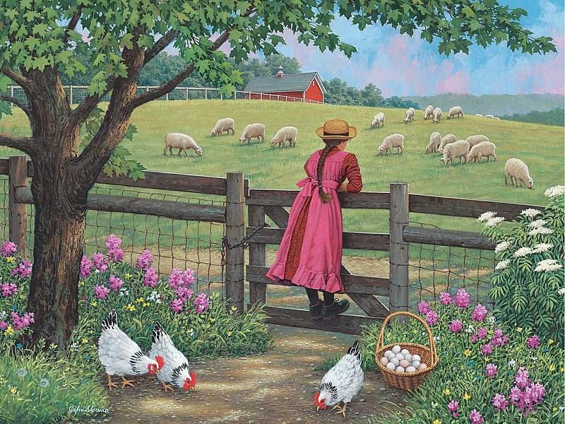 Пазл Собирать пазлы онлайн - На ферме