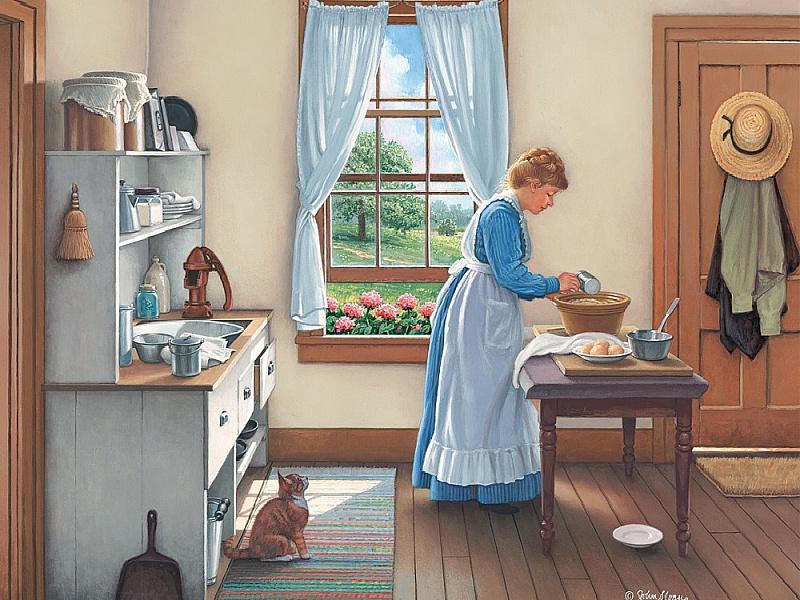 Пазл Собирать пазлы онлайн - На кухне