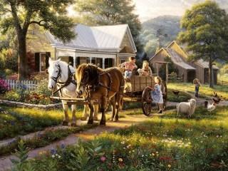 Собирать пазл На ранчо 1 онлайн