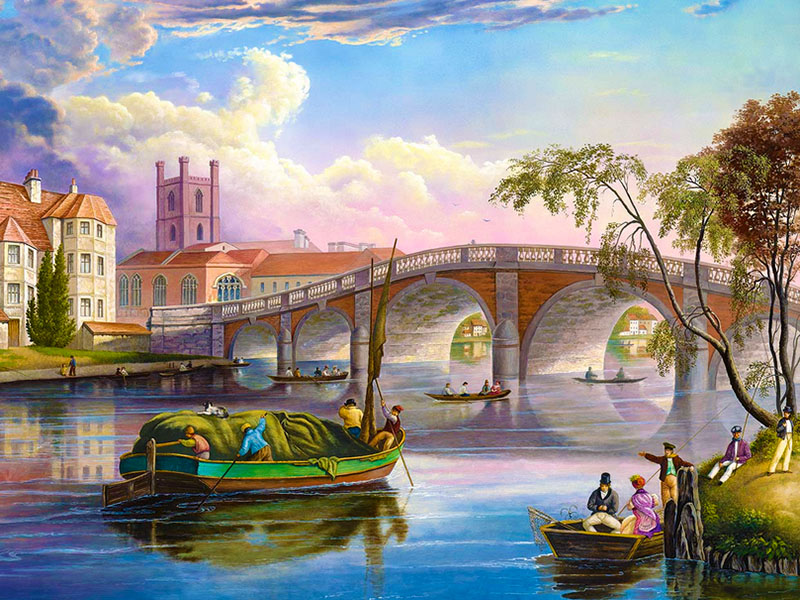 Пазл Собирать пазлы онлайн - На реке