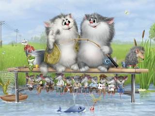 Собирать пазл На рыбалке онлайн