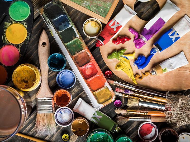 Пазл Собирать пазлы онлайн - Набор художника