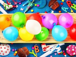 Собирать пазл Надувные шары онлайн