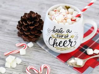 Собирать пазл Напиток с маршмеллоу онлайн