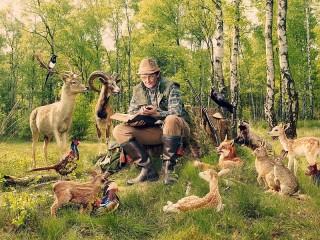 Собирать пазл Натуралист онлайн