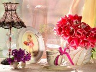 Собирать пазл Натюрморт с тюльпанами онлайн