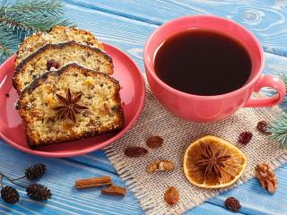 Собирать пазл Кофе с куличом онлайн