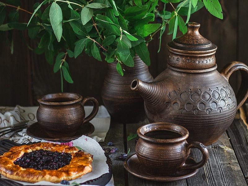 Пазл Собирать пазлы онлайн - Натюрморт чайный