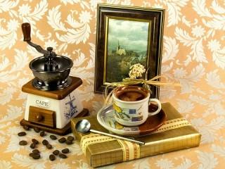 Собирать пазл Натюрморт кофейный онлайн