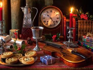 Собирать пазл Натюрморт при свечах онлайн