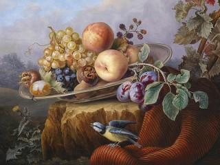 Собирать пазл Натюрморт с фруктами онлайн