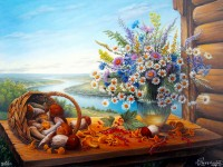 Собирать пазл Натюрморт с грибами онлайн