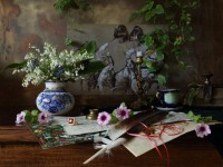 Собирать пазл Натюрморт с цветами онлайн