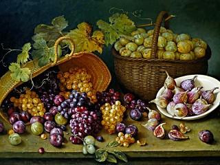 Собирать пазл Натюрморт с ягодами онлайн