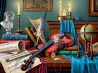 Собирать пазл Натюрморт со скрипкой онлайн